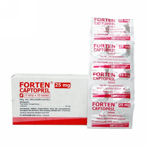FORTEN 25 MG BOX 50 TABLET