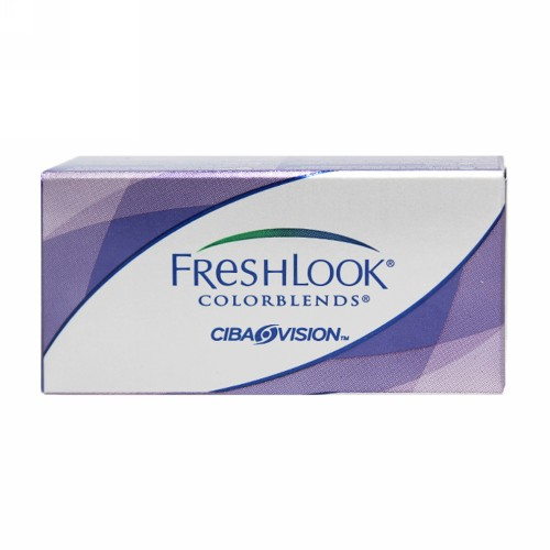 FRESHLOOK HEMA COLOR MONTHLY LENS COLORBLENDS (-8.00) GRAY