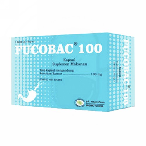 FUCOBAC 100 MG BOX 30 KAPSUL