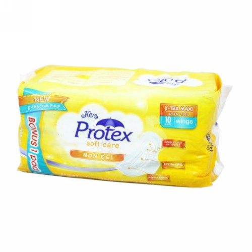 HERS PROTECT SOFT CARE NON GEL EXTRA MAXI WINGS 10 PCS