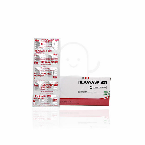 HEXAVASK 5 MG TABLET BOX