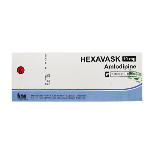HEXAVASK 10 MG TABLET BOX