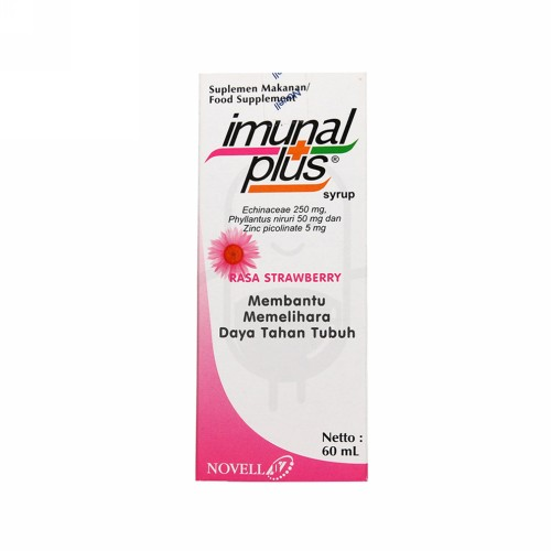 IMUNAL PLUS RASA STRAWBERRY SIRUP 60 ML