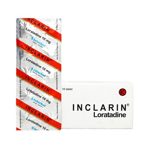 INCLARIN 10 MG STRIP 10 TABLET