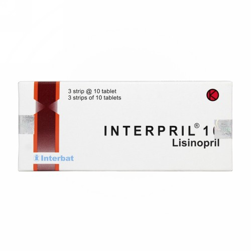 INTERPRIL 10 MG TABLET STRIP
