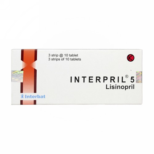INTERPRIL 5 MG STRIP 10 TABLET