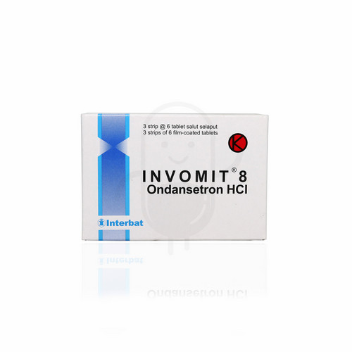 INVOMIT 8 MG STRIP 6 TABLET