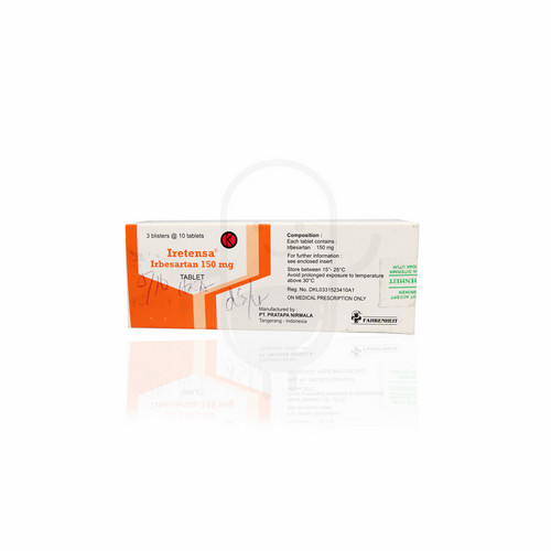 IRETENSA 150 MG TABLET BOX