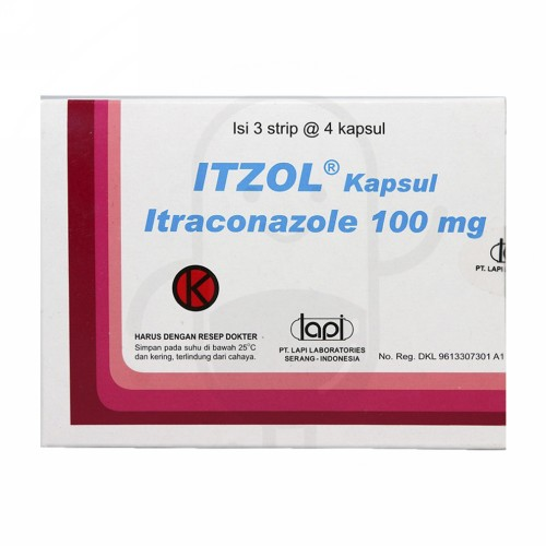 ITZOL 100 MG KAPSUL STRIP