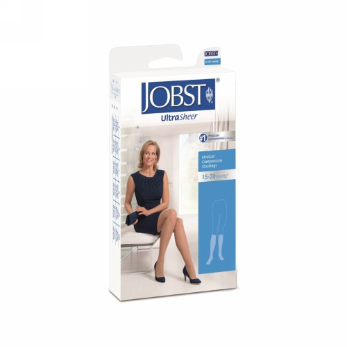 JOBST ULTRASHEER 15-20 MMHG KNEE HIGH CLOSE TOE SILKY BEIGE SIZE M