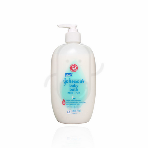 JOHNSON'S BABY BATH MILK + RICE 500 ML PUMP