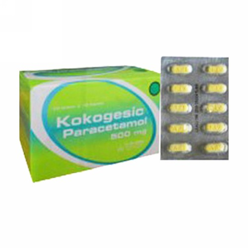 KOKOGESIC 500 MG 10 KAPLET STRIP
