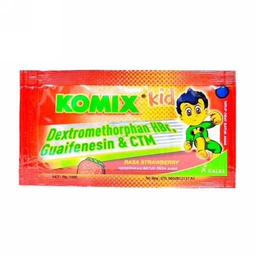 KOMIX KID STRAWBERRY SACHET BOX