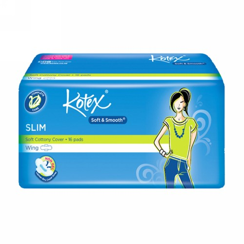 KOTEX SOFT & SMOTH SLIM WING ISI 16 PCS