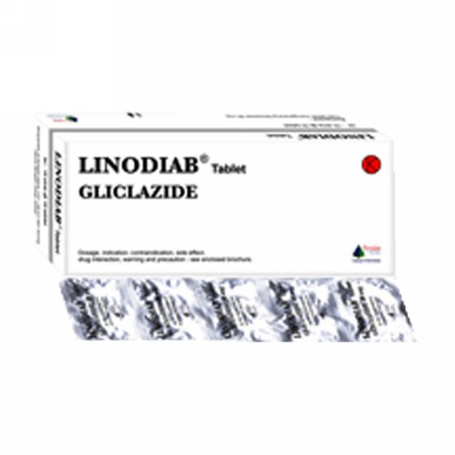LINODIAB 80 MG TABLET STRIP