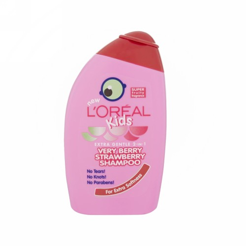 LOREAL SHAMPOO KIDS EXTRA GENTLE 2 IN 1 VERY BERRY STRAWBERRY 250 ML BOTOL
