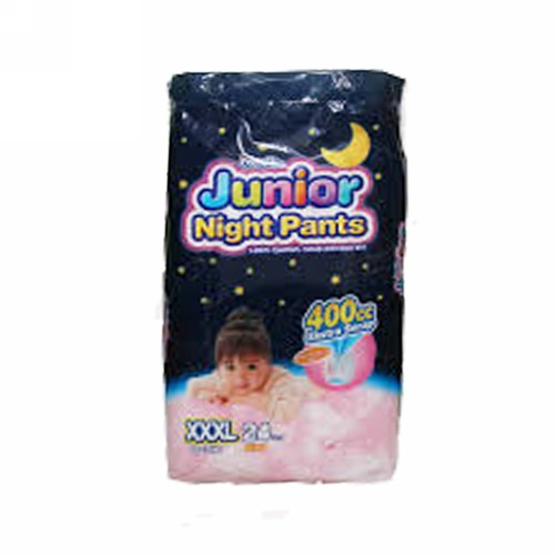 MAMYPOKO POPOK CELANA JUNIOR NIGHT GIRLS UKURAN XXXL PACK 24 PCS
