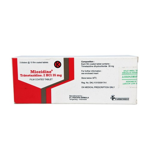 MIOZIDINE 35 MG TABLET BOX