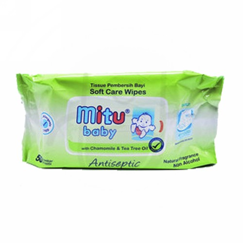 MITU BABY WIPES TRAVEL PACK WITH CHAMOMILE & TEA TREE OIL 10 PACK
