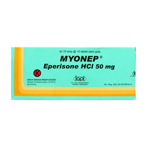 MYONEP 50 MG TABLET BOX