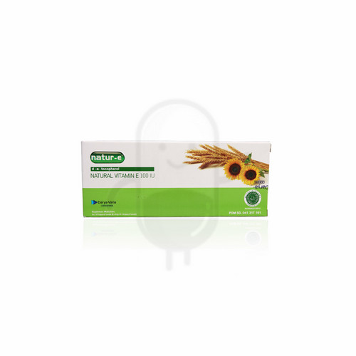 NATUR-E NATURAL VITAMIN E 100 IU BOX 32 KAPSUL