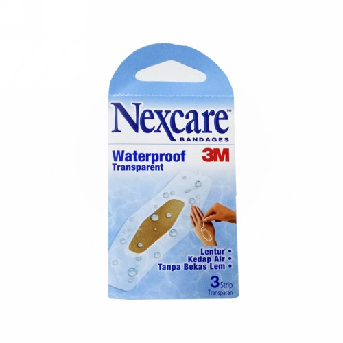 NEXCARE BANDAGES WATERPROOF TRANSPARAN BOX 3 PCS