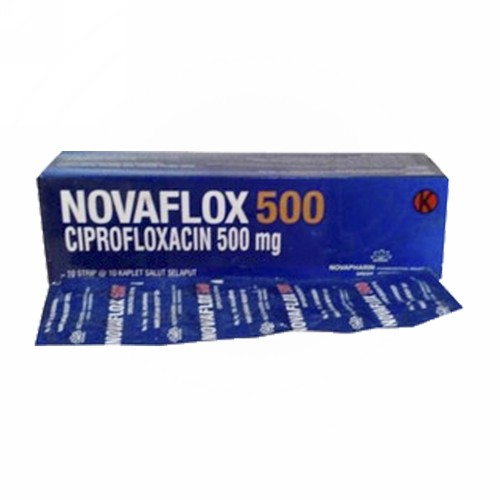 NOVAFLOX 500 MG STRIP 10 KAPLET