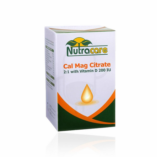NUTRACARE CAL MAG CITRATE 2:1 WITH VITAMIN D 200 BOX 30 TABLET