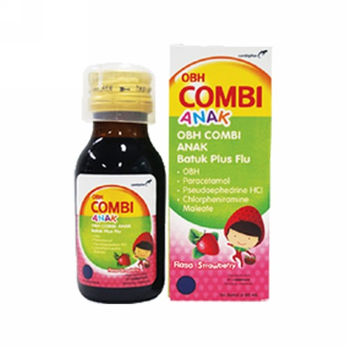 OBH COMBI ANAK BATUK PLUS FLU RASA STRAWBERRY 60 ML