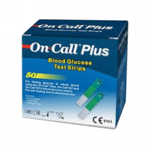ON CALL GLUCOMETER PLUS STRIPS BOX