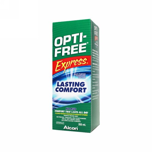 OPTI-FREE EXPRESS MULTI PURPOSE DISINFECTING SOLUTION (MPDS) BOX 355 ML
