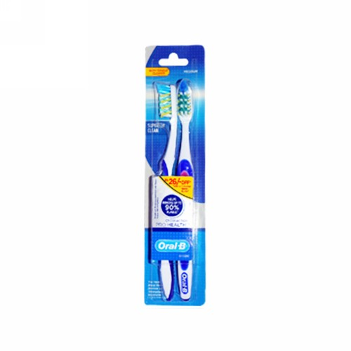 ORAL B SIKAT GIGI SUPERIOR CLEAN CROSS PRO HEALTH MEDIUM 40 PCS