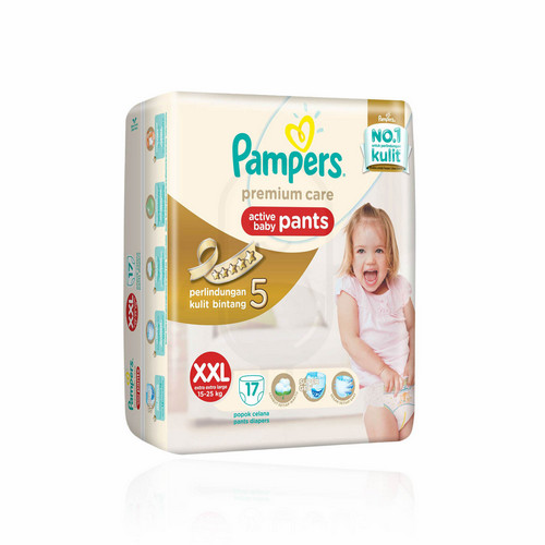 PAMPERS PREMIUM CARE POPOK CELANA UKURAN XXL BOX 17 PCS