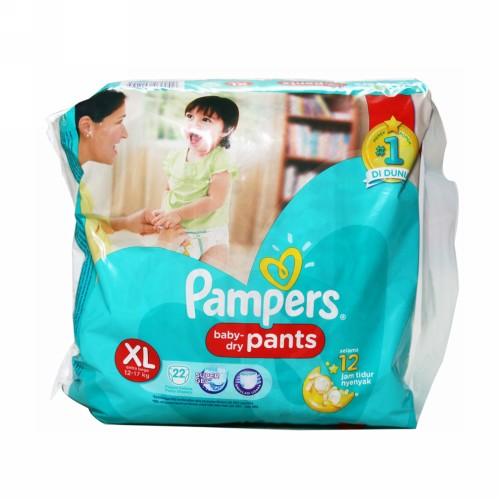 PAMPERS BABY DRY PANTS UKURAN XL BOX 22 PCS