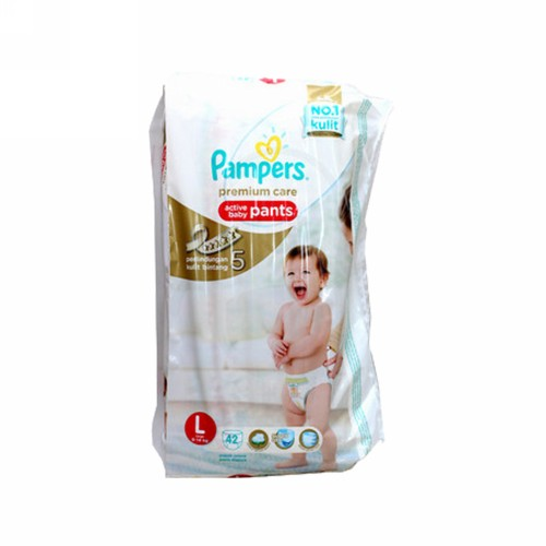 PAMPERS PREMIUM CARE POPOK CELANA UKURAN L BOX 42 PCS