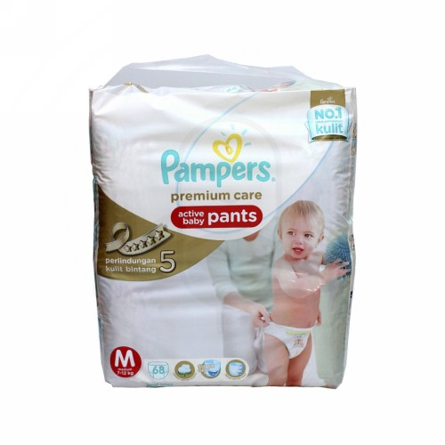 PAMPERS PREMIUM CARE POPOK CELANA UKURAN M BOX 68 PCS