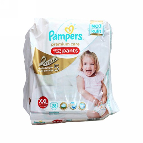 PAMPERS PREMIUM CARE POPOK CELANA UKURAN XXL BOX 28 PCS