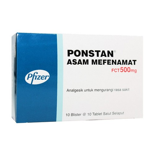 PONSTAN 500 MG TABLET BOX