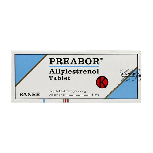 PREABOR 5 MG TABLET STRIP