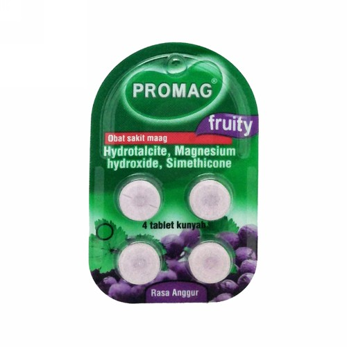 PROMAG FRUITY ANGGUR STRIP 4 TABLET