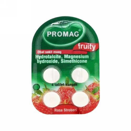 PROMAG FRUITY STRAWBERRY STRIP 4 TABLET