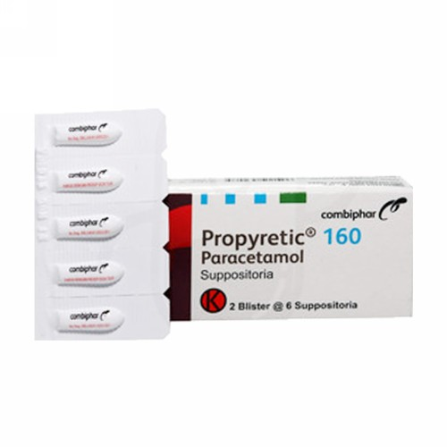 PROPYRETIC 160 MG SUPPOSITORIA BOX