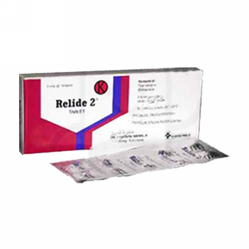 RELIDE 2 MG TABLET BOX
