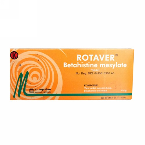 ROTAVER 6 MG BOX 100 TABLET