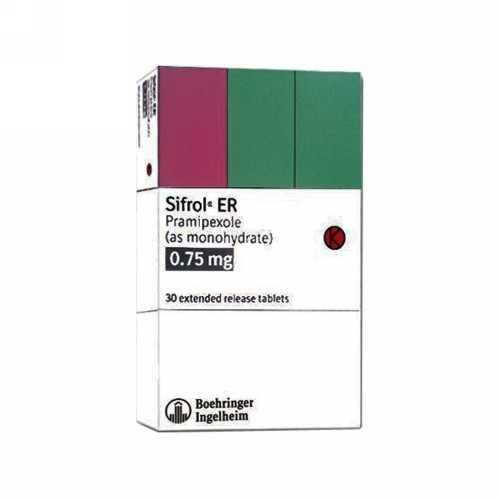 SIFROL ER 0.75 MG TABLET STRIP