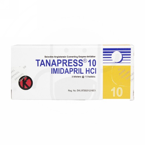 TANAPRESS 10 MG STRIP 10 TABLET