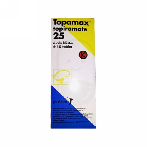 TOPAMAX 25 MG BOX 60 TABLET