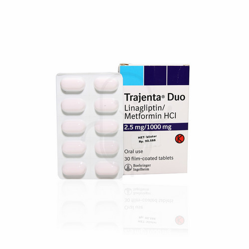 TRAJENTA DUO 2.5 MG / 1000 MG TABLET