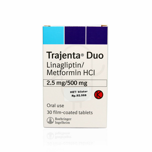 TRAJENTA DUO 2.5 MG/500 MG BOX 30 TABLET