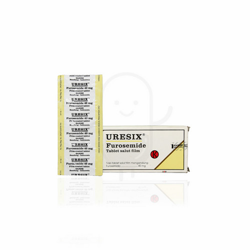 URESIX 40 MG STRIP 10 TABLET
